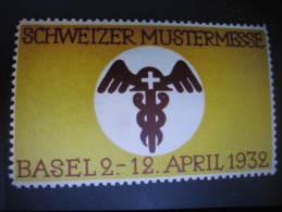 BASEL BALE 1932 Schweizer Mustermesse Vignette Poster Stamp Label Switzerland Suisse - Non Classés