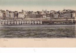 1910/ 2 Oude Kaarten Malta, Panorama Valletta, St. George Bay - Malte