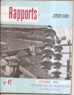 Rapports France-etats-unis-1950-le Rhone.genissiat.lyon.donzere.camargue.berre.foire De Marseille-n° 42 - Livres, BD, Revues