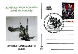 Minerals From Romania Zene Maramures - Stibine Antimonite Card 101 - Postcards