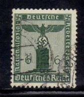 TERZO REICH 1938 , Servizio Unificato N. 109  Usato Filigrana Svastica - Germania