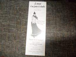ANCIEN MARQUE PAGE  / PUB   THEATRE DE LA TARASQUE - Bookmarks