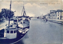Lazio-fiumicino Canale Porto Barche Particolare Veduta Anni 40/50 - Fiumicino