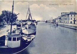Lazio-fiumicino Canale Porto Barche Particolare Veduta Anni 40 50 - Fiumicino