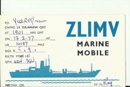 QSL CARD   --   NEW ZEALAND  --  MARINE MOBILE  --  SHIP - QSL-Karten