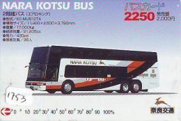 Télécarte Japon * BUS * Japan Phonecard * Auto * Car (1753) Voitures * Telefonkarte * - Cars