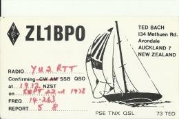 QSL CARD   --   NEW ZEALAND    --  SHIP - QSL-Karten