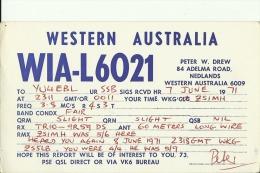 QSL CARD   --   WESTERN AUSTRALIA - QSL-Karten