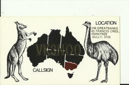 QSL CARD   --    AUSTRALIA  --  MAP - QSL-Karten