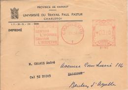 EMA BELGIQUE BELGIE METIER UNIVERSITE DU TRAVAIL PAUL PASTUR UNIVERSITET UNIVERSITY HAINAULT CHARLEROI  QUIEVRAIN 1956 - Fábricas Y Industrias