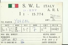 QSL CARD   --    ITALIA  --  GORIZIA - QSL-Karten