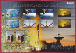 SOUTH AFRICA, 2011, Mint Never Hinged, Sheet Of Stamps , Sumbandila Satelite, Sa 2171, #9255 - Unused Stamps