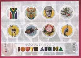 SOUTH AFRICA, 2012, Mint Never Hinged, Sheet Of Stamps , National Symbols, Sa 2221, #9289 - Unused Stamps