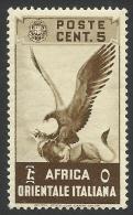 Italian Eastern Africa, 5 C. 1938, Scott # 2, MH. - Italian Eastern Africa