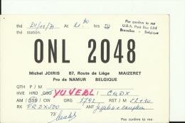 QSL CARD   --    BELGIE  --  MAIZERET - QSL-Karten