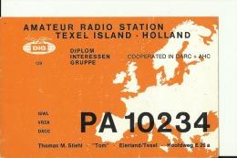 QSL CARD   --    TEXEL ISLAND  --  HOLLAND - QSL-Karten