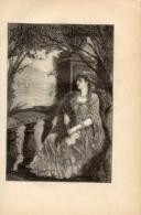 Poesia ALL'AMICA LONTANA Di GIUSEPPE GIUSTI Con 1 FOTOINCISIONE ORIGINALE 1840 - OTTIMO STATO - Poesie