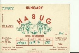 QSL CARD   --   HUNGARY  --  1964 - QSL-Karten