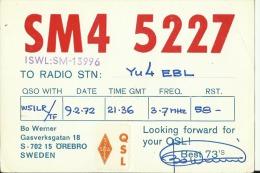 QSL CARD   --   SWEDEN - QSL-Karten
