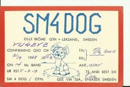 QSL CARD   --   SWEDEN  --  1968 - QSL-Karten