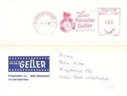 EMA-Allemagne-13/1/1987-Dusseldorf 6-Lass Fotosachen Geller( Appareil Photo à Soufflet Sur Pied) - Photography