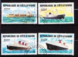 COTE D IVOIRE  SERIE N� 691 A 694 OBL