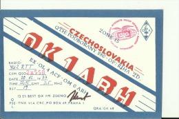 QSL CARD   --   CZECHOSLOVAKIA - QSL-Karten