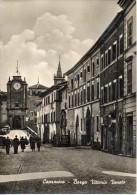 Lazio-viterbo-capranica Veduta Borgo Vittorio Veneto Animatissima Anni 50 - Altre Città