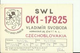 QSL CARD   --   CZECHOSLOVAKIA  --  1972 - QSL-Karten