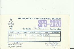 QSL CARD   --   POLAND - QSL-Karten