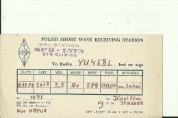 QSL CARD   --   POLAND  --  GLIWICE - QSL-Karten