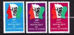 COTE D IVOIRE  N� 589 / 590 / 591 NEUF** SANS TRACE DE CHARNIERE