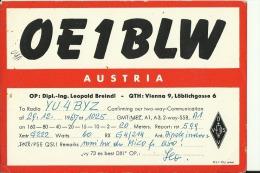 QSL CARD   --   AUSTRIA  --  WIEN  --  1967 - QSL-Karten