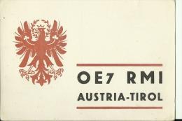 QSL CARD   --   AUSTRIA  --  TIROL  --  1965 - QSL-Karten