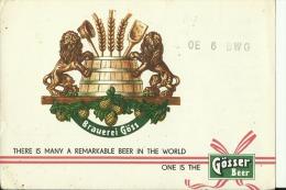 QSL CARD   --   AUSTRIA  --  BRAUEREI GOSS  --   GOSSER BIER - QSL-Karten