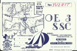 QSL CARD   --   AUSTRIA  --  BADEN  --  MICKEY MOUSE - QSL-Karten