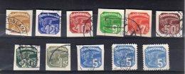 1937 Pigeon Y 17-25 - Postage Due
