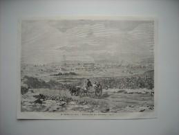 GRAVURE 1858. ETATS-UNIS. LE GRAND LAC SALE. EMIGRATION DES MORMONS. - Alte Papiere