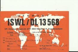 QSL CARD   --   DEUTSCHLAND  --   8859 RODENHOF - QSL-Karten