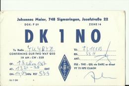 QSL CARD   --   DEUTSCHLAND  --   SIGMARINGEN - QSL-Karten