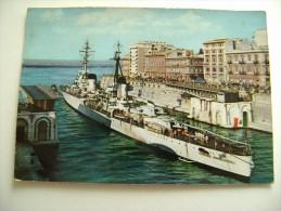 TARANTO   NAVE   RAIMONDO  MONTECUCCOLI     SHIP   MARINA  MILITARE  WARSHIP  VIAGGIATA COME DA FOTO LEGGERE CREPATURE - Guerra