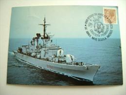 NAVE  AUDACE 1981 TIMBRO MAXIMUM REGGIO CALABRIA  50° ANNIVERSARIO  NAVE SCUOLA AMERIGO VESPUCCI SHIP  MARINA  MILITARE - Guerra