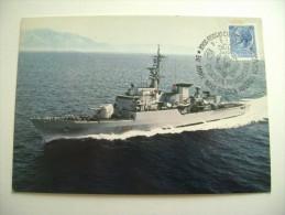 NAVE LUPO  1981 TIMBRO MAXIMUM REGGIO CALABRIA  50° ANNIVERSARIO  NAVE SCUOLA AMERIGO VESPUCCI SHIP  MARINA  MILITARE - Warships