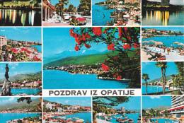 Yugoslavia--Pozdrav Iz Opatije--1985--Vrias Vistas--Opatije-a, Le Mans, Francia - Yugoslavia