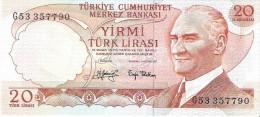 Turkey - Pick 187 - 20 Lira 1974 - Unc - Turquie