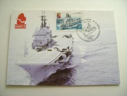 NAVE  GARIBALDI  FIERA  DEL LEVANTE  BARI   TIMBRO MAXIMUM SHIP   MARINA  MILITARE  WARSHIP - Guerra