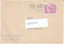 """DDR 1977  Brief/ letter Maschinen- Werbestempel  27 SCHWERIN  """"Staatliche Versicherung"""""""