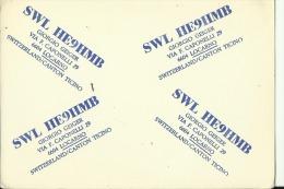 QSL CARD   --   SWITZERLAND / CANTON TICINO - QSL-Karten