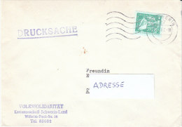 DDR 1982  Brief/ letter Maschinen- Werbestempel  27 SCHWERIN  auf Drucksache der VOLKSSOLIDARIT�T