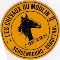 Autocollant  - CHEVAUX Du Moulin KOCH - SCHOENBOURG - GRAUFTHAL - Bas- Rhin - Stickers